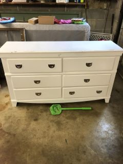 White Solid Wood Project Dresser