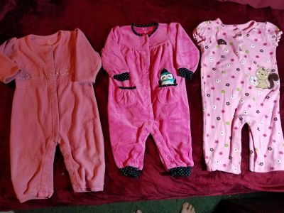 3 one piece outfits size 9 months