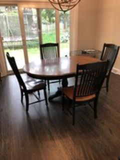 Canadel table and chairs