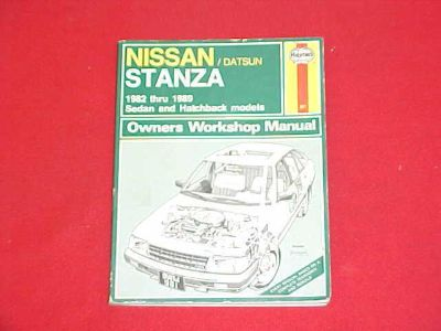 Sell 1982-1987 1888 1989 NISSAN STANZA SERVICE SHOP REPAIR MANUAL W/ WIRING DIAGRAMS motorcycle in Leo, Indiana, US, for US $12.99