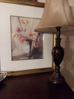 Painting and Lamp