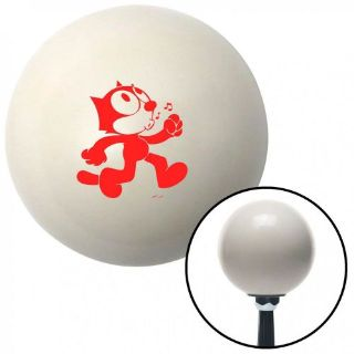 Purchase Red Felix The Cat Whistling Ivory Shift Knob with 16mm x 1.5 Insertmetric motorcycle in Portland, Oregon, United States, for US $29.97
