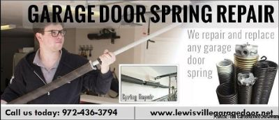 Lewisville Garage Door | Garage Door Spring Repair ($25.95) Lewisville, TX