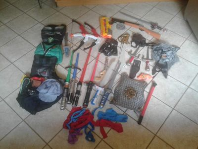 Lot of dress up and play accessories