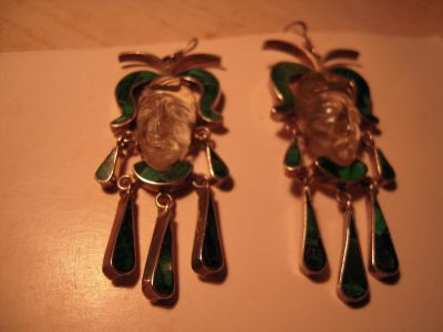 Posted 7 minutes ago favorite this post Vintage Taxco Mexico Silver Aztec Mayan Warrior Face Earrings