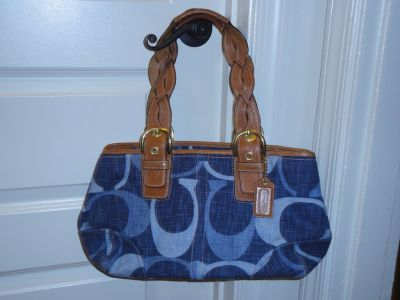 Authentic Blue Jeans Coach handbag