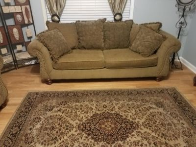 Sofa, Loveseat, and Rug