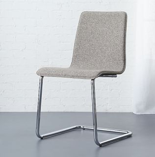 4 Cb2 Tweed Chairs - Grey