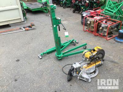 Lot of (1) DeWalt DWS780 Compound Miter Saw & (1) Sumner Material Hoist