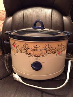 Large size crockpot. Beautiful design and in perfect working order. Just have 3 so downsizing inventory.