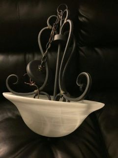 Wrought iron light fixture. Very good quality