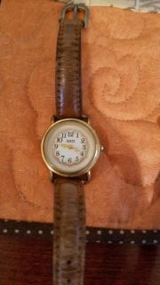 Guess watch with leather band