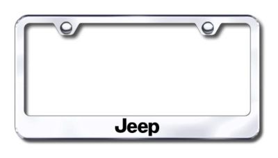 Purchase Chrysler Jeep Engraved Chrome License Plate Frame -Metal Made in USA Genuine motorcycle in San Tan Valley, Arizona, US, for US $30.98