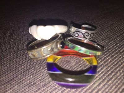 Rings mostly size 8 a few smaller