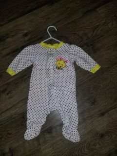 0-3 month pjs. Lots of baby girl clothes available