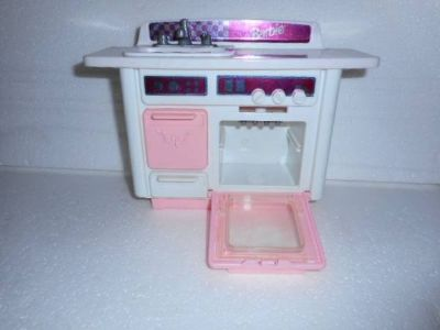 Vintage Barbie Pink Kitchen Dishwasher / Sink 1993 with Name On Sink