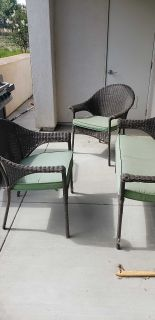 3 piece Patio Set with cushions
