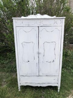 Restyled Antique Armoire...Shabby Chic