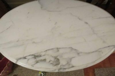 First Come First Served...Gorgeous Vintage Italian Marble Cherry Wood Carved Tables