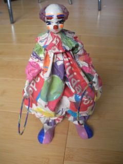 clown juggling-rings paper mache mexican folk art (art crafts, inc.)