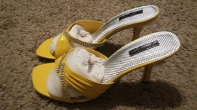 New Yellow Heels sz 8