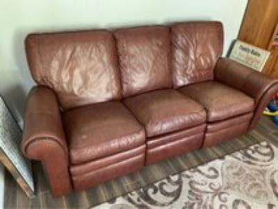 leather reclining sofa couch