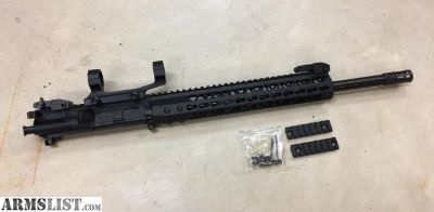 For Sale: New AR15 16 300 blackout upper, Flip-up sights, scope mount, BCG and ambidextrous charging handle