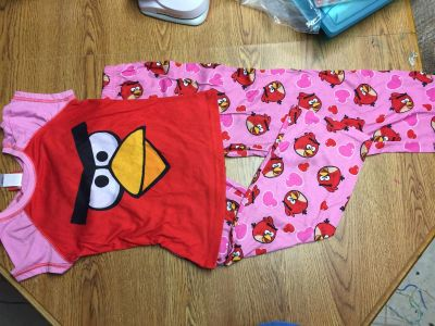 Size 7/8 Angry bird pjs