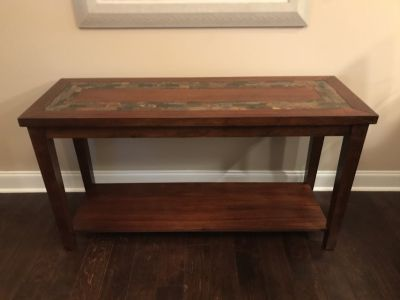 Steve Silver slate top console table