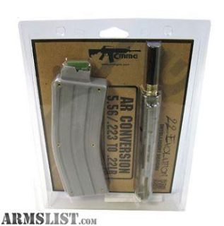 For Sale: CMMG AR15 22 lr conversion kit stainless steel / extra mag available