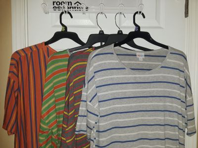 $45 Firm for lot of 7 Euc/like new 2xl :Lualroe Irma tops-other pic in comments