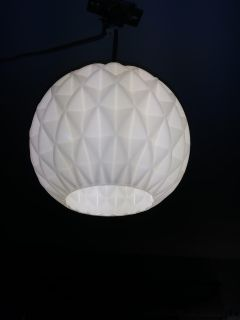 Glass hanging light fixture on rope.plug into outlet