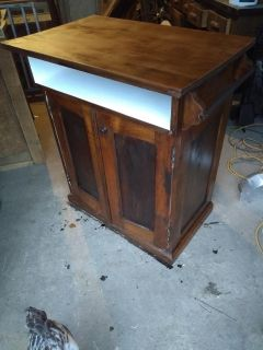 Antique tall washstand cabinet