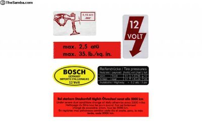 '67 Beetle Decal Variety Pack w/ Red Wshr Decal
