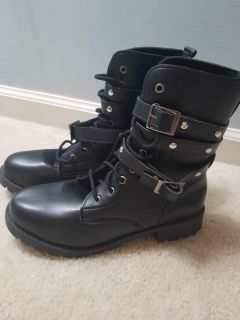 Brand New Goth Boots fits size 7/7.5