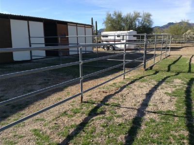Heavy Duty Portable Horse Corrals-Rails