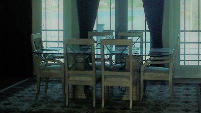 Drexel Heritage Contemporary Glass Dining Table