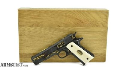 For Sale: Colt Government Model .45 ACP Engraved by Alvin White