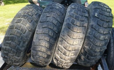"4 Lightly Used Michelin XL 12.5R20 40"" tall tires Military Tires"