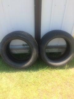 Three Cooper Car tires (two 18 in & one 16in) and 1 Fire Stone Tire