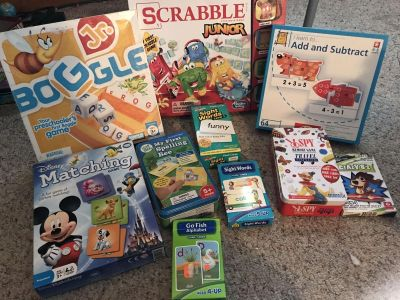 (Lot) PreK-2nd grade learning games and flashcards