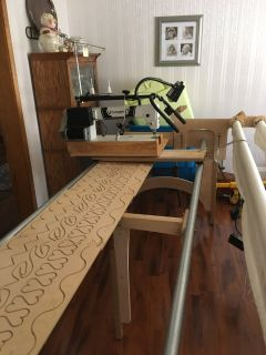 long arm industrial sewing machine with frame