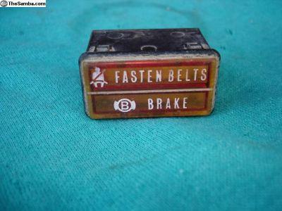 Original Brake & Belt Light