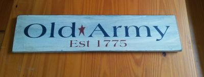 Old Army Sign