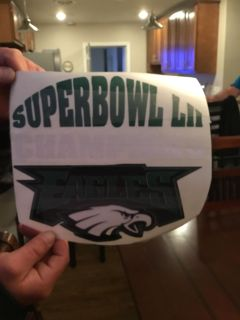 Super Bowl champions decal for car 8.00