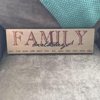 Family Birthday Sign; New w/out Tags; $4