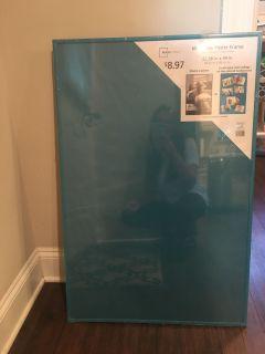 Teal poster frame