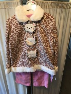 ***BRAND NEW ***Toddler Girl Kitty Cat Outfit SZ 4T