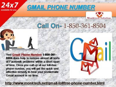 Gmail Phone Number A Reliable Enough To Count On@ 1-850-361-8504?