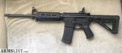 "For Sale: Bushmaster MOE XM15 AR-15, Semi-Automatic, 5.56 NATO/.223 Rem., 16"" Barrel, MBUS Sights, 30+1 Rds"